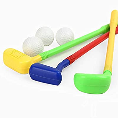 Zoylink Kids Golf Toy Set Plastic Non-Slip Handle Golf Game Toy Sports Toy Golf Playset: Sports & Outdoors