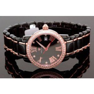 腕時計 アクアマスター Aqua Master Ladies Classic Diamond Watch Black w319a【並行輸入品】 B00PFN4JF4