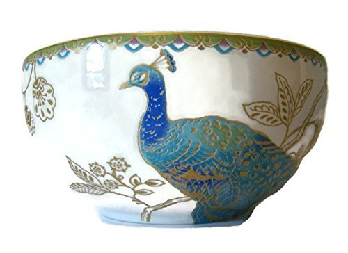 222 Fifth Peacock Garden Cereal Bowls, Set of 4