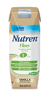 Nutren 1.0 with Fiber ( NUTREN, 1.0 WITH FIBER, 250ML tetra, UNFLAVORED) 24 Each / Case