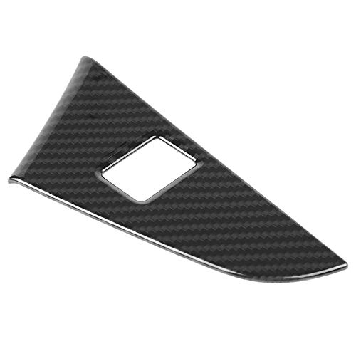 KIMISS Carbon Fiber Interior Tail Door Switch Frame Cover Trim Left Hand for 5 Series G30 17-18