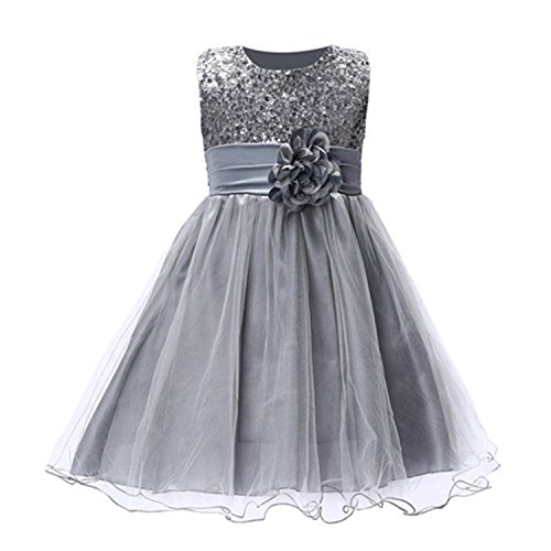 Huaqiang fashion Summer Christmas cute flower Girls Dress sequined mesh Girl Clothing Sleeveless Princess Dresses Girl Costume Kids girls as picture 8