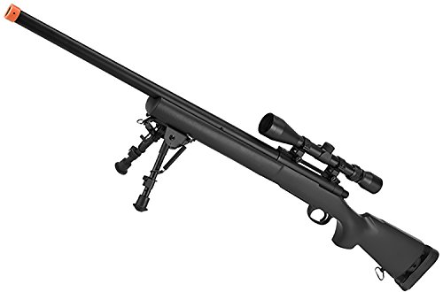 Evike - CYMA Advanced M24 Military Airsoft Bolt Action US Army Scout Sniper Rifle (Color: Black/Standard Barrel/Rifle - Sniper Army Rifle
