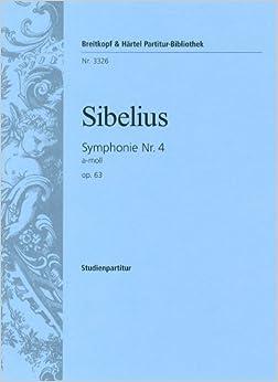シベリウス: 交響曲 第4番 イ短調 Op.63/ブライトコップ & ヘルテル社/小型スコア