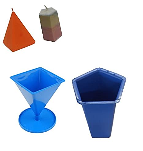 Proops Set x 2, pentágono 5 cara Pilar Vela molde & con forma de pirámide