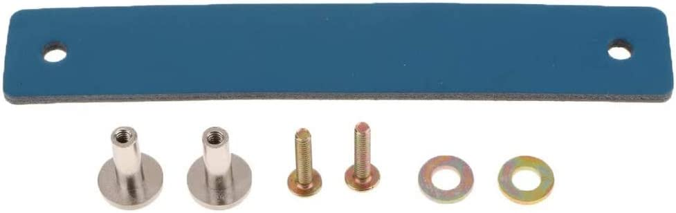 tiroir meuble 26 x 156 mm POFET Lot de 5 poign/ées de porte de placard nordique en cuir PU souple pour placard Bleu