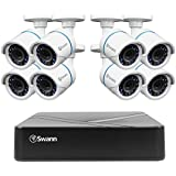 Swann SWDVK-HDHOMK88-US DVR8-1575 TVI 720A / 500GB / 8 x HDCAM Bullet White Surveillance DVR Kit, Black