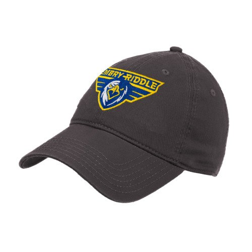 - Embry Riddle Prescott Charcoal Twill Unstructured Low Profile Hat 'Athletic Mark'