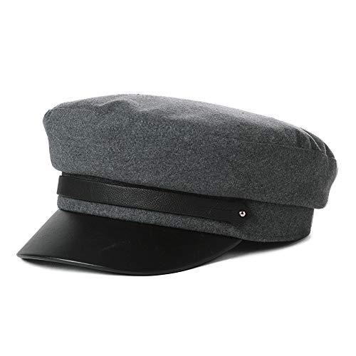 Womens Greek Fisherman Newsboy Cap Fashion with Cotton Lining Winter Fall Sailor Hat Gray