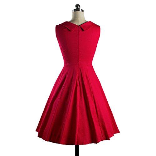 Mujer Cuello Redondo Cuello De La Camisa De Vestir Delgada Poner Red