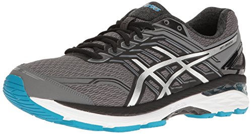 ASICS Men's GT-2000 5 Running Shoe, Carbon/Silver/Island Blue, 6.5 2E US