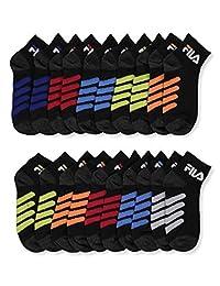 Fila Boys' 10-Pack Quarter Crew Socks