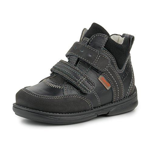 Memo Polo Ankle Support Children's Corrective Orthopedic Sneaker, Black, 27 (10 M US Little Kid)