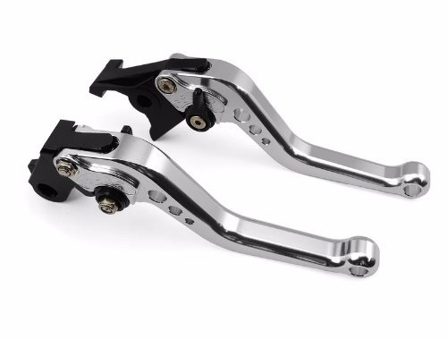 Niree Short Brake Clutch Levers for Honda VTX1300 2003-2008 CB599 / CB600 HORNET 1998-2006 CBR 600 F2,F3,F4,F4i 1991-2007 CB919 2002-2007 CBR900RR 1993-1999 NC700 S/X 2012-2013 Silver