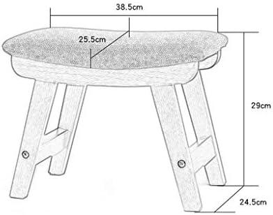 YUMUO Tabouret en Bois Massif Adulte Petit Banc Tissu Trendy Maison Canapé Petite Table Housse De Tissu Amovible Lavable (Couleur: Brun)