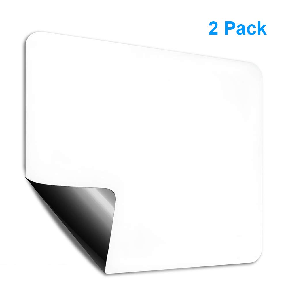 Magnetic Dry Erase Board Whiteboard Sheet 17''x11'' Great for Fridge(2 Pack), Smiler+ Refrigerator Whiteboard Day Planner, Ideal for Weekly Reminders, Messages, Calendar, Scheduler, White