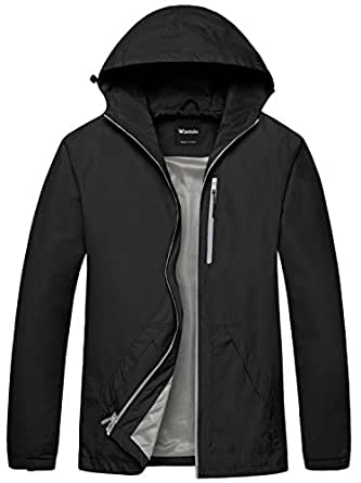 Wantdo Men's Breathable UV Protection Packable Quick Dry Skin Coat Windbreaker(Black,Small)