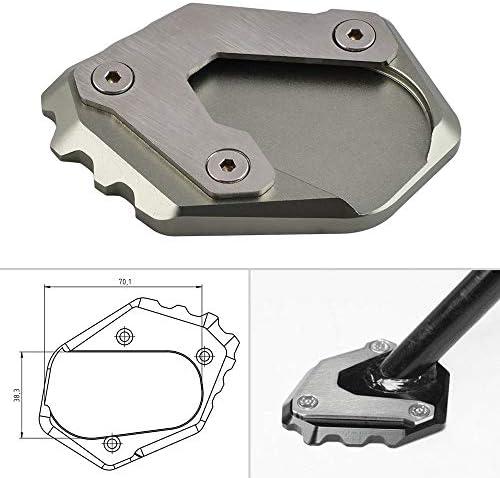 H2Racing CNC Seitenständer Verbreiterung Ständer Seite Ständer Verlängerung Teller für R1200 GS R1250 GS,Verlängerung für 70.1 x 38.3 mm