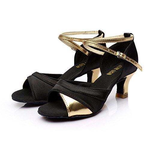 Damen Absatz mit Tanzschuhe Latein 5cm Mädchen Gelb Tanzschuhe Schuhe Tanz Ballsaal Latein DorkasDE Absatz 7cm 5 xwd1BcqZSx