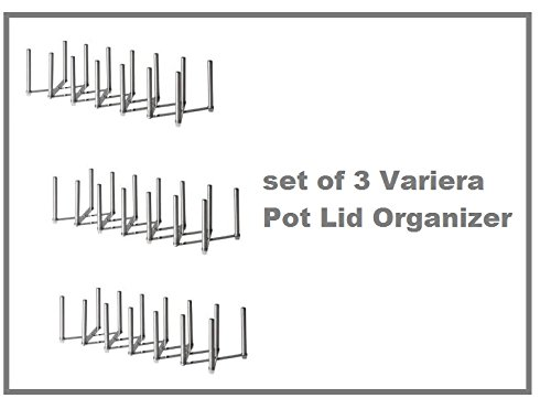New Ikea Variera Pot Lid Organizer Stainless Steel Multi-use Adjustable length - SET OF 3