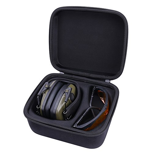 Storage Case for Howard Leight Hearing Protective Earmuff fits Shooting Glasses by Aenllosi