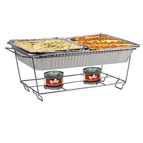 Party Food Warmers ~ Full size aluminum chafing stand dish rack party catering