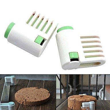 5 capas herramientas fijador nivelador cortador pan pastel de corte máquina de cortar (color al azar, 2 piezas) 6x6x3cm: Amazon.es: Hogar