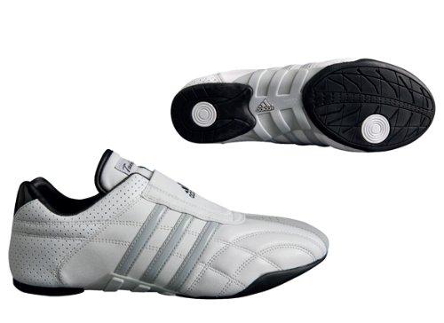 Arts Gear Adidas Martial - adidas Taekwondo Adilux Shoes (10.5, White W/Gray Stripe)