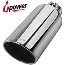 """Upower Diesel 4 to 7"""" Exhaust Tip 18"""" Length Stainless Steel Universal Car Trucks Exhaust Tailpipe"""