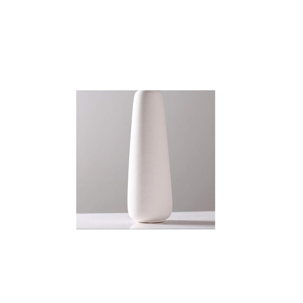 北欧スタイルのセラミック模造金属装飾品リビングルーム装飾花瓶装飾品ホワイト QYSZYG (サイズ さいず : C high 36.8CM) B07R21LCXW  C high 36.8CM