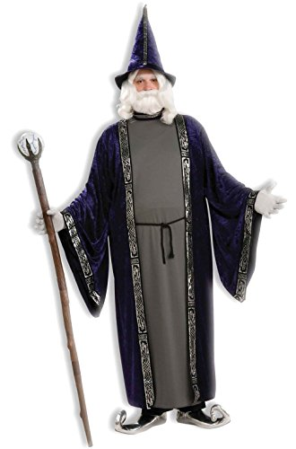 [Mememall Fashion Magic Wizard Adult Men Plus Size Costume] (Wicked Jester Deluxe Adult Mens Costumes)
