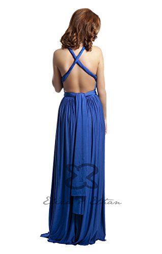Blau Sapphire Brautjungfernkleid size Abendkleid Tragevarianten 22 Ethan one Eliza amp; Wickelkleid Ballkleid EOwxCnq1wZ