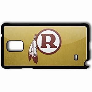 Personalized Samsung Note 4 Cell phone Case/Cover Skin 1326 washington redskins Black