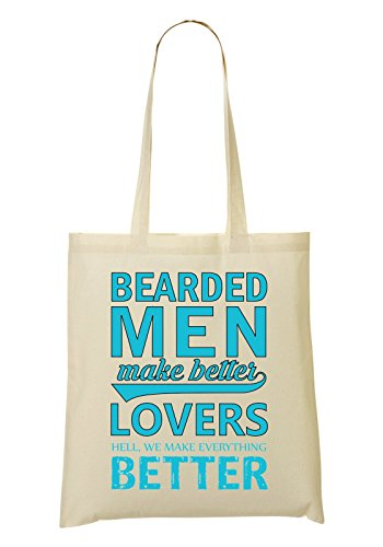 provisions tout Bearded Better We Lovers Better Sac Make Men Letters Sac Everything Blue Hell Make à Fourre rOprqa