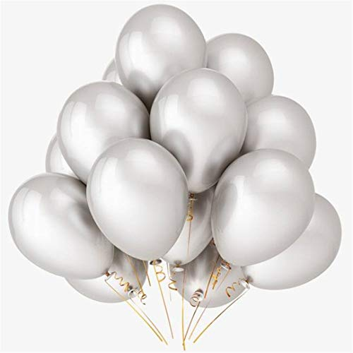 10Pcs/Lot 12Inch Latex Colorful Balloons Happy Birthday Party Decorations Kids Toy Wedding Balls Event Party Supplies Silver 12Inch]()