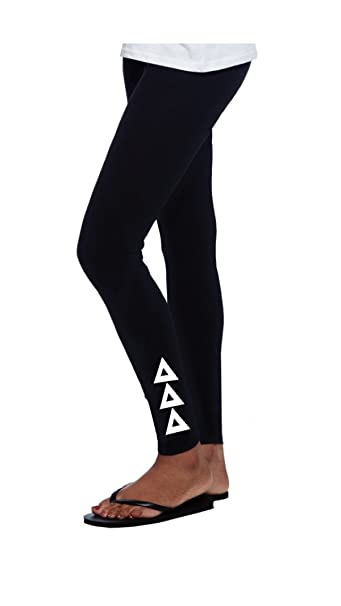 Amazon.com: Tri Delta Leggings Full Longitud con con costura ...