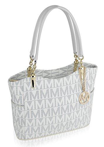 Mkf Collection Braylee  M  Signature Tote By Mia K  Farrow  White