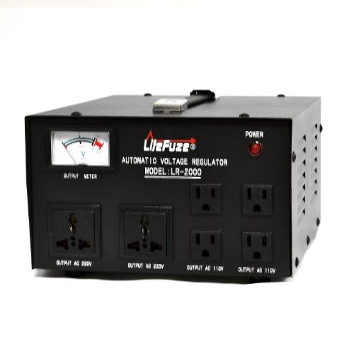 LiteFuze LR-2000 2000 Watt Voltage Regulator with Transforme