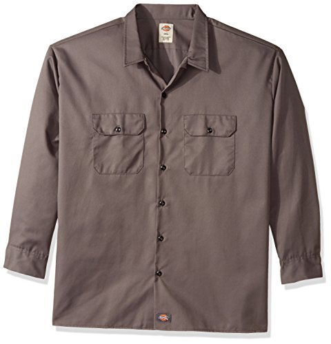Dickies Gray Men's Work Shirt Fit Regular Casual Long Sleeve Gravel rrZqzwxagn