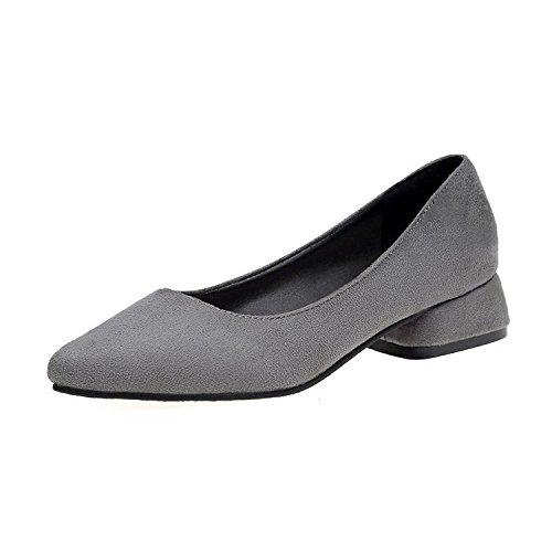 XXM-Shoes Punta a bassa scarpa da donna con grande, superficiale bocca scarpe piatte scarpe da donna con Bold moda donna scarpe, scarpe casual da donna, 34, Grigio 37