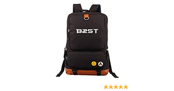 Amazon.com: Beast Kpop B2st Accessories merchandise canvas backpack school bag Fanmade (Black): Home & Kitchen