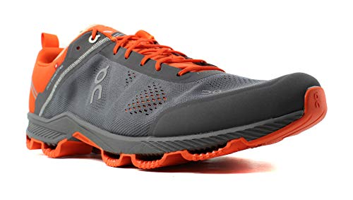 ON Cloudsurfer Running Shoe - Men's Rock/Orange 9