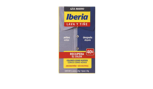 Iberia - Lava y tiñe azul marino iberia: Amazon.es: Belleza