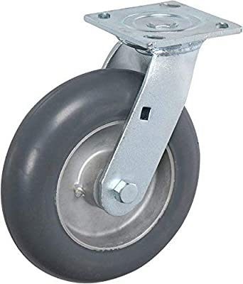 "Flat 4EA - Swivel 6/"" x 2/"" Non-Marking Rubber Caster"