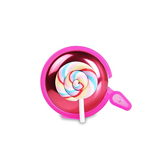 Mini-Factory Bike Bell for Kid Girls, Bicycle Handlebar Cute Lollipop Pattern Children's Bike Safe Cycling Ring Horn – Pink Lollipop