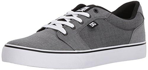 DC Men's Anvil Tx Se Skate Shoe, Black/Grey Black/Black/White