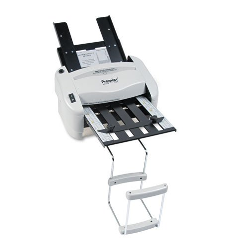 Martin Yale P7400 RapidFold Automatic Feed Desktop Folder, Feed tray holds up to 50 sheets of paper, Folds 8-1/2'' x 11'' and 8-1/2'' x 14'', Folds up to 3 sheets by Premier