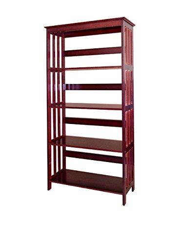 "Ore International 60"" 4-Tier Bookcase - Cherry"