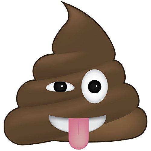 Poo with Tongue Out Emoji Vinyl Decal Wall, Car, Laptop - 48 - Emoji Facebook Sunglasses