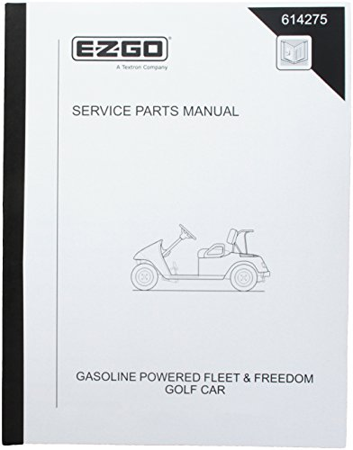 EZGO 614275 2010 Service Parts Manual for Gas Fleet and Freedom Golf Cars by EZGO